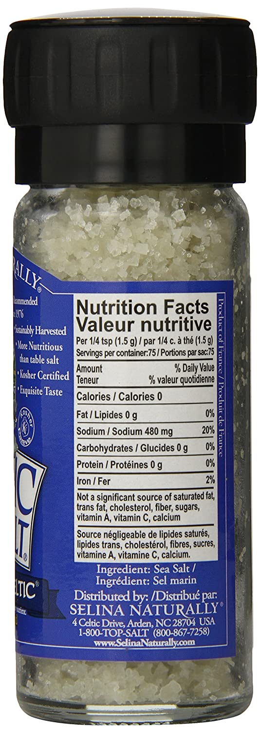 Light Grey Celtic Sea Salt 5 Pound Resealable Bag – Additive-Free, Delicious Sea Salt, Perfect for Cooking, Baking and More - Gluten-Free, Non-GMO Verified, Kosher and Paleo-Friendly : Grocery & Gourmet Food