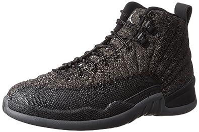 new product 84966 81053 Jordan Men s Retro 12 quot Wool Dark Grey Metallic Silver ...