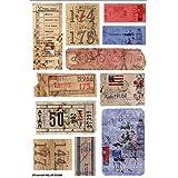 FabScraps Love 2 adesivi di viaggi 8 x 5,25 cm, biglietti, etichette e targhette