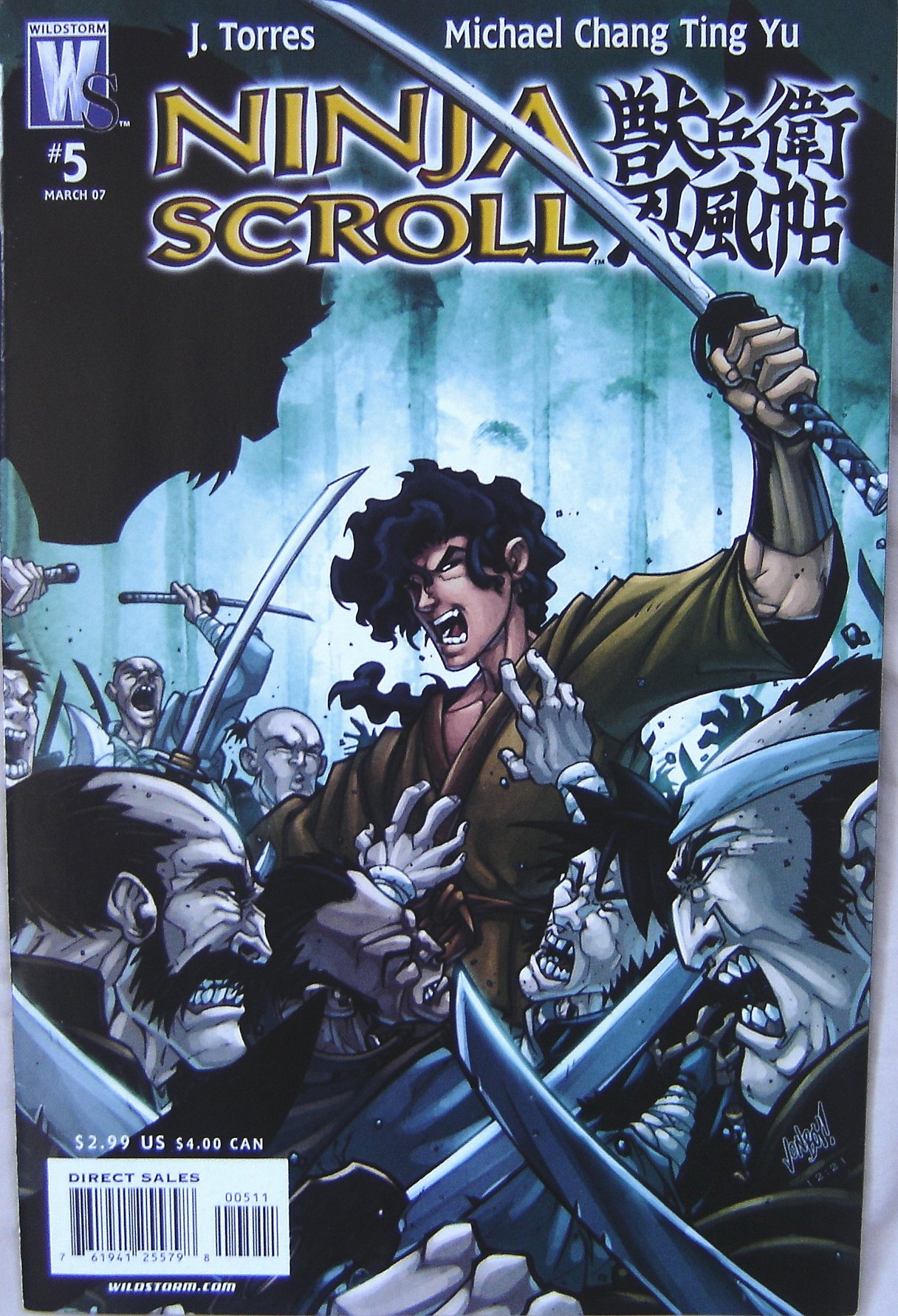 Ninja Scroll Wildstorm Comics # 5 March 2007: Michael Chang ...