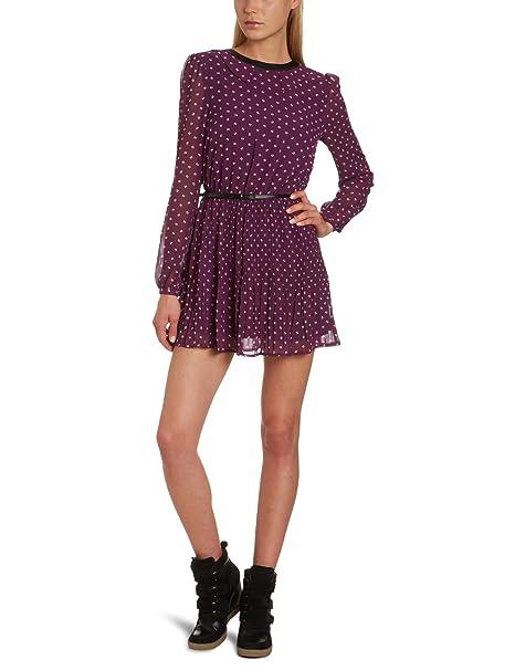 Vero Moda - Vestido mini de manga larga para mujer, talla 40, color Morado