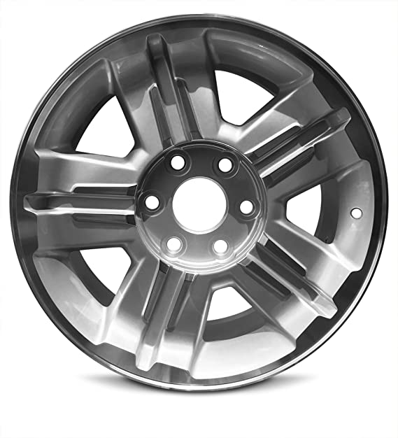 Road Ready Car Wheel For 2007-2013 Chevrolet Avalanche 1500 Silverado 1500 2007-2014 Chevy Suburban 1500 Tahoe 18 Inch 6 Lug Silver Alloy Rim Fits R18 Tire - Exact OEM Replacement - Full-Size Spare