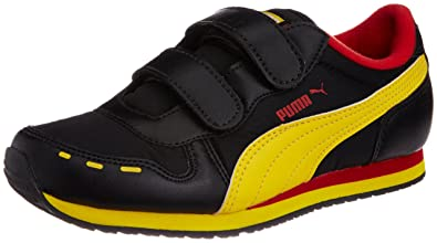 594826d4e9c58 Puma Unisex Cabana Velcro Black Sports and Outdoor Shoes - 1C UK ...