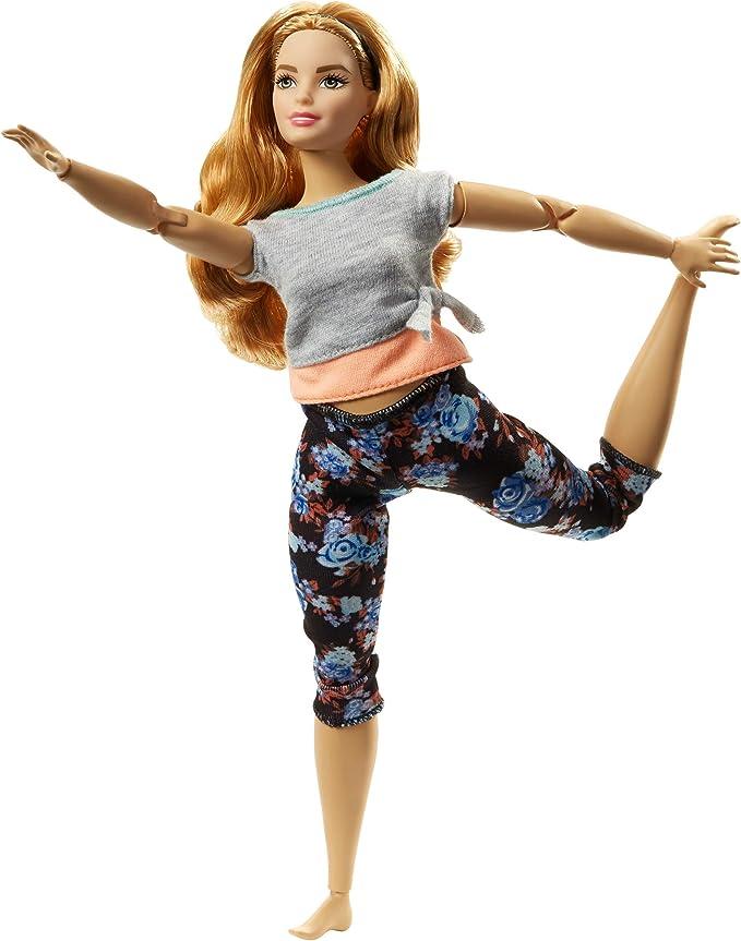 Made to Move Yoga Bun Brunette Tan Hair Head 1//6 Barbie Doll