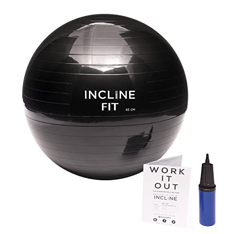 Black Incline Fit Yoga Exercise Ball Base