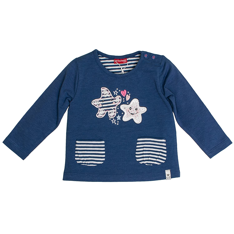 Salt /& Pepper Baby Girls B Longsleeve Summer Uni T-Shirt