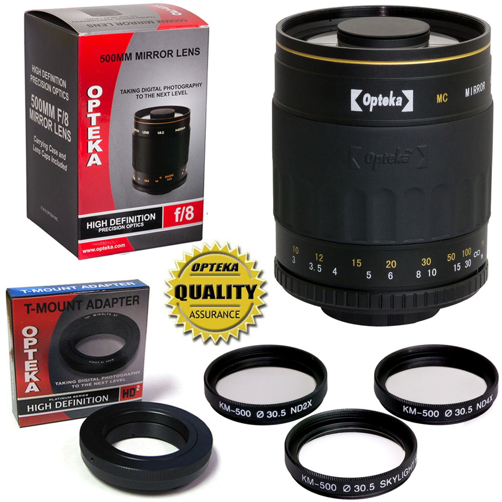 Opteka 500mm f/8 High Definition Telephoto Mirror Lens for Panasonic Lumix DMC G9, GH5, GX850, G85, GX8, G7, GM5, GH4, GX7, GH3, GH1 Micro Four Thirds Digital Cameras