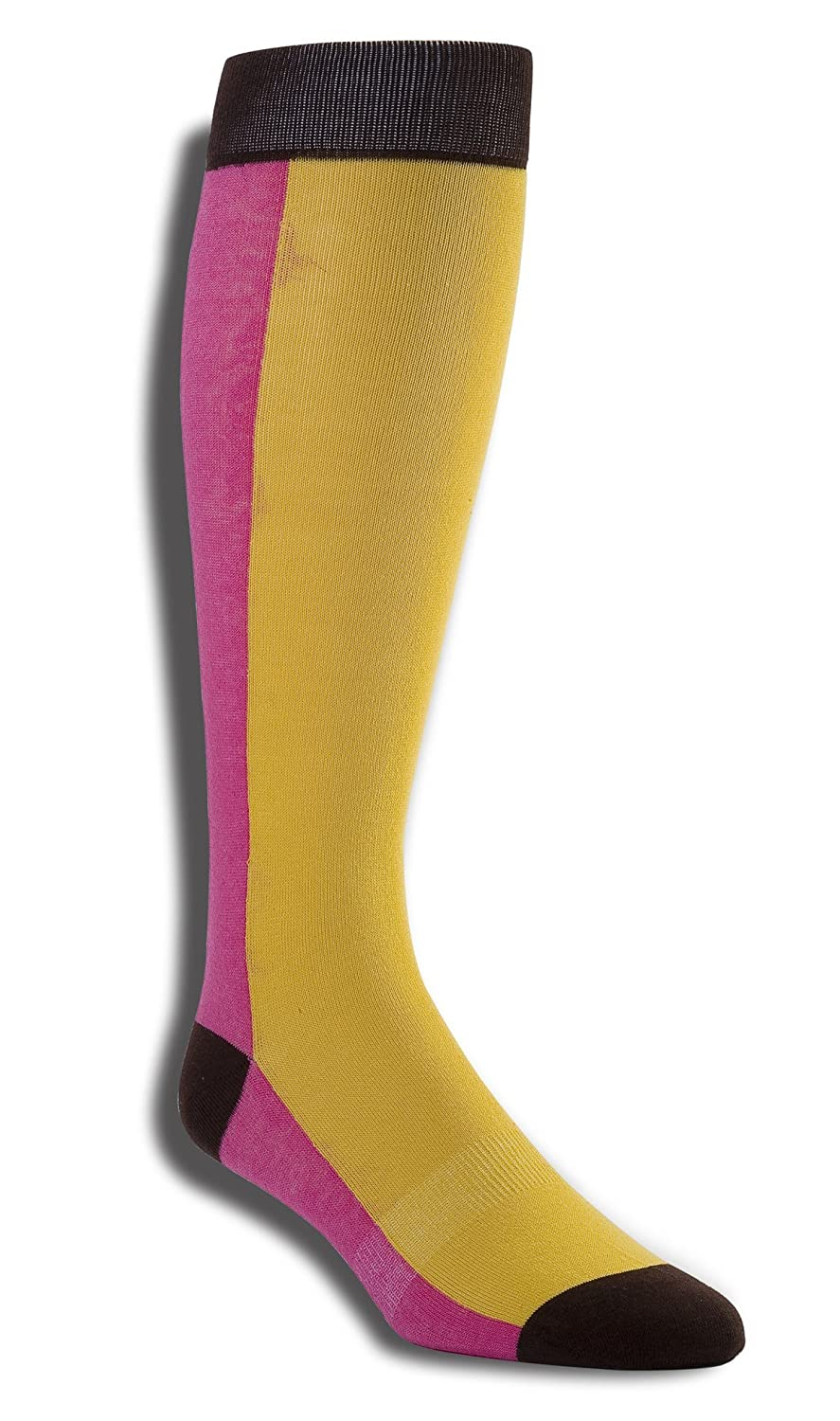 Wits + Beaux Men's Dress Socks 1 Pair (Over-the-Calf) Fun, Colorful Cotton Polyester bc13-checkmate