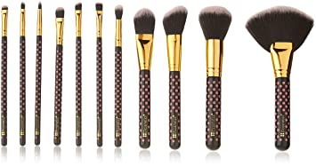 a0a65969b7f6 Image Unavailable. Image not available for. Color  Pink-A-Dot - 11 Piece  Brush Set