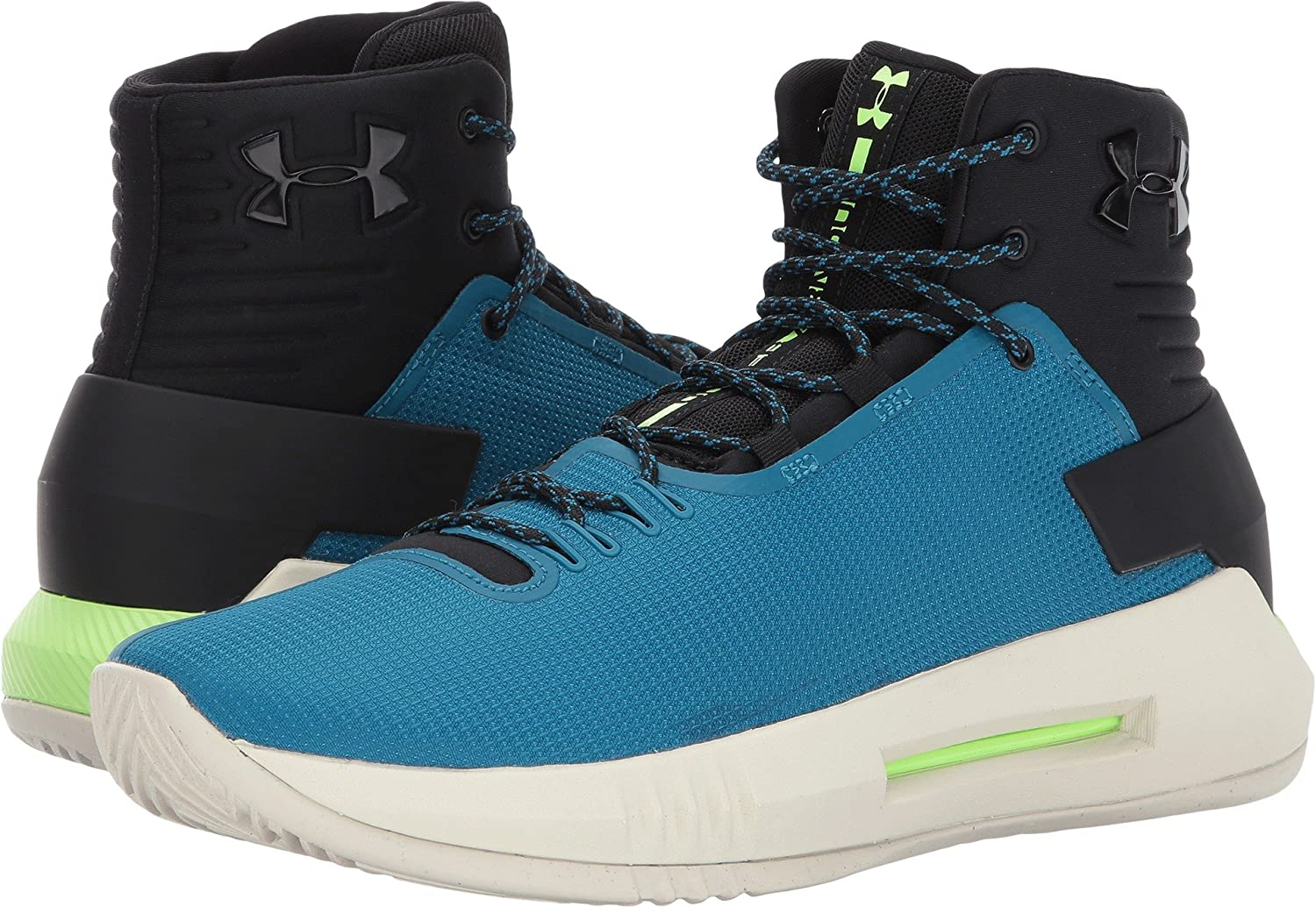 [アンダーアーマー] UA DRIVE 4 1298309 B01N6GM5EC 18 D(M) US|Black/Bayou Blue/Quirky Lime