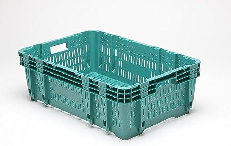 De plástico de colour caja FEV190 verdura para pila de cajas de caja de fruta de más uso caja respetuoso con el medio ambiente, New: Amazon.es: Hogar