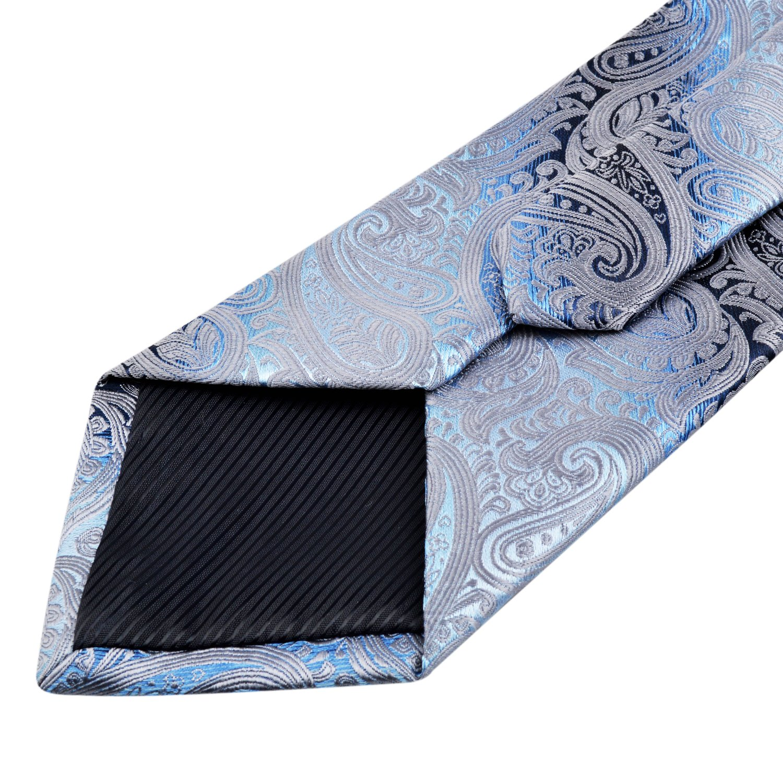 Alizeal Mens Gradient Paisley Necktie and Pocket Square Set