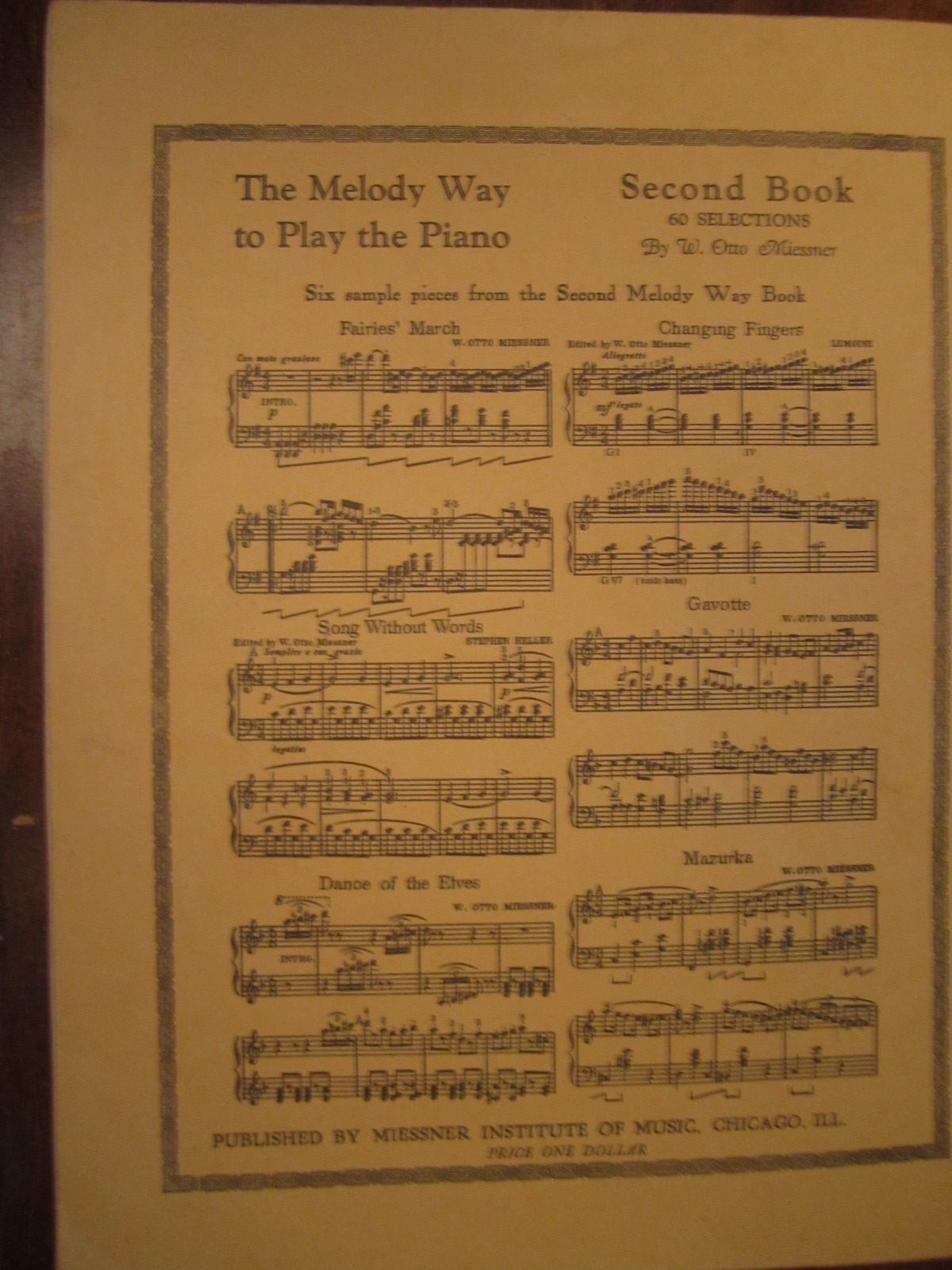 The melody way to play the piano, : W  Otto Miessner: Amazon