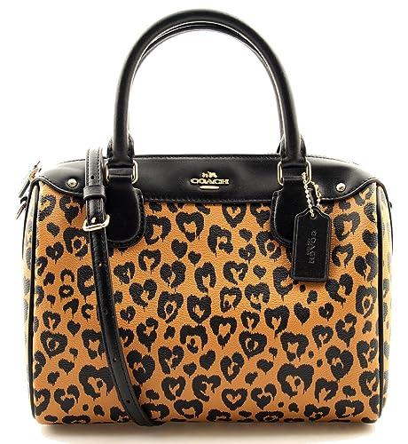 c884e1f97 COACH Mini Bennett Satchel with Wild Heart Leopard Print Crossbody:  Amazon.ca: Shoes & Handbags