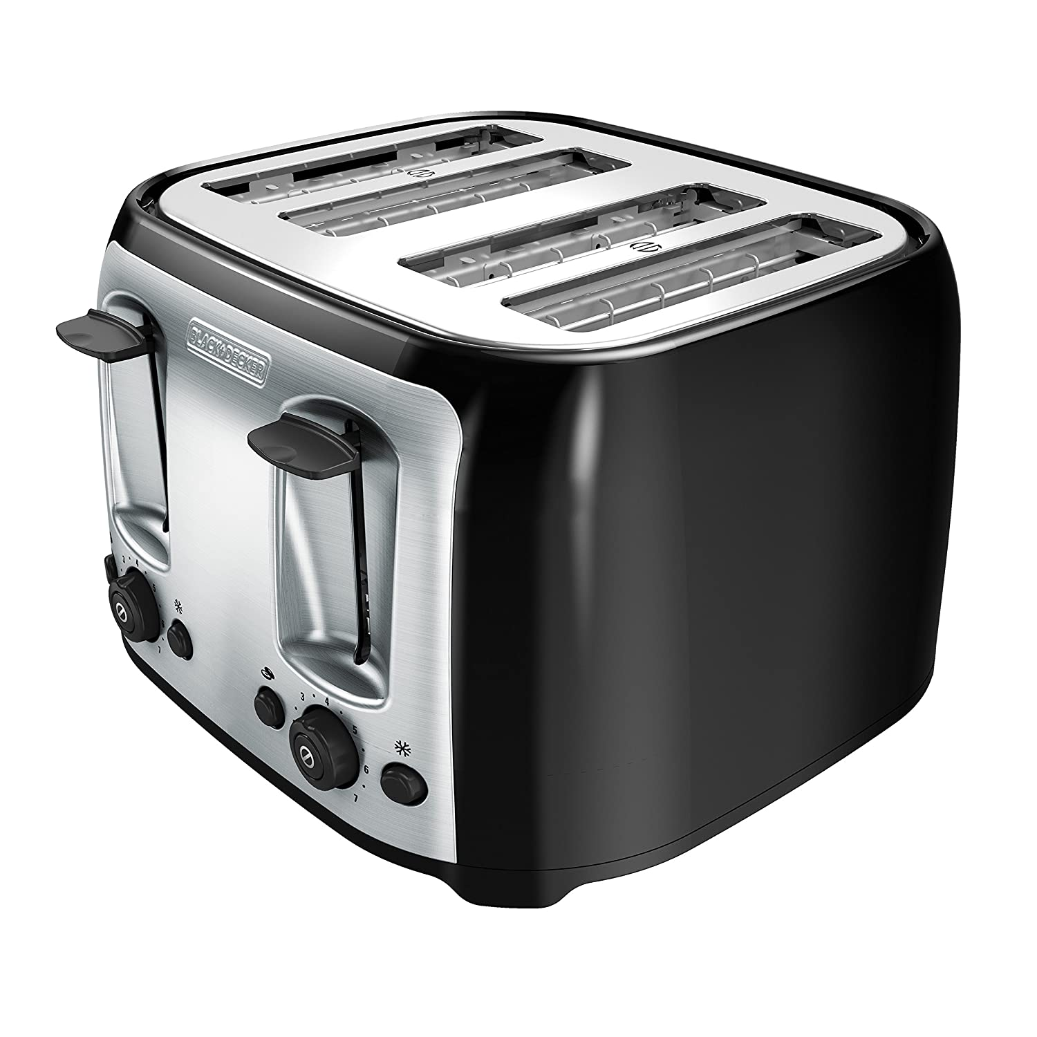 amazon com black decker 4 slice toaster classic oval black with