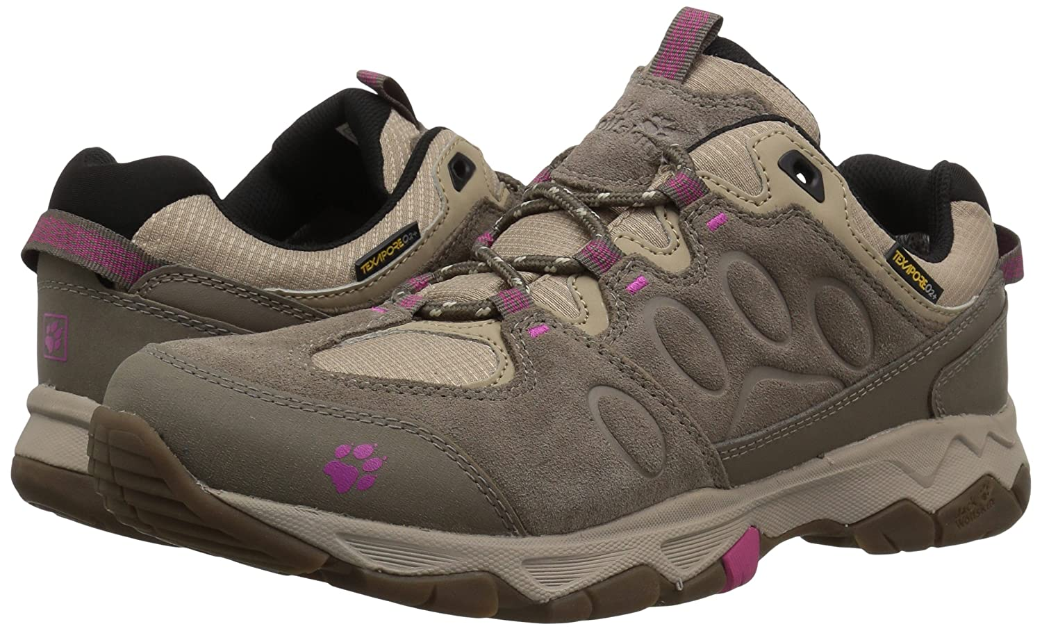 Jack Wolfskin Women's MTN Attack 5 Texapore Low W Hiking Boot B073ZJF523 US Women's 6 D US|Fuchsia
