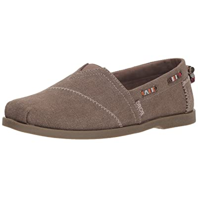 BOBS from Skechers Women's Chill Luxe - Autumn Crush. Canvas slip on w memory foam Shoe, brown, 8 M US | Shoes