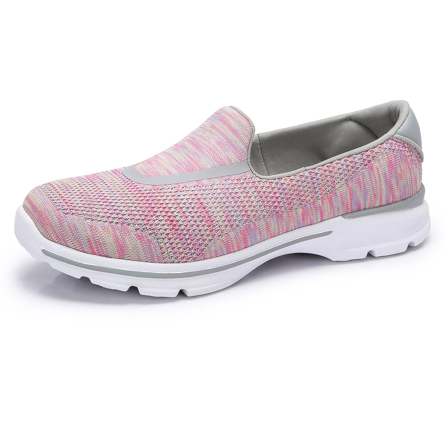 Camel Women's Shoes Breathable Mesh Slip-On Lightweight Walking Shoes Memory Foam Insoles Sneakers (7 B(M) US, Pink)