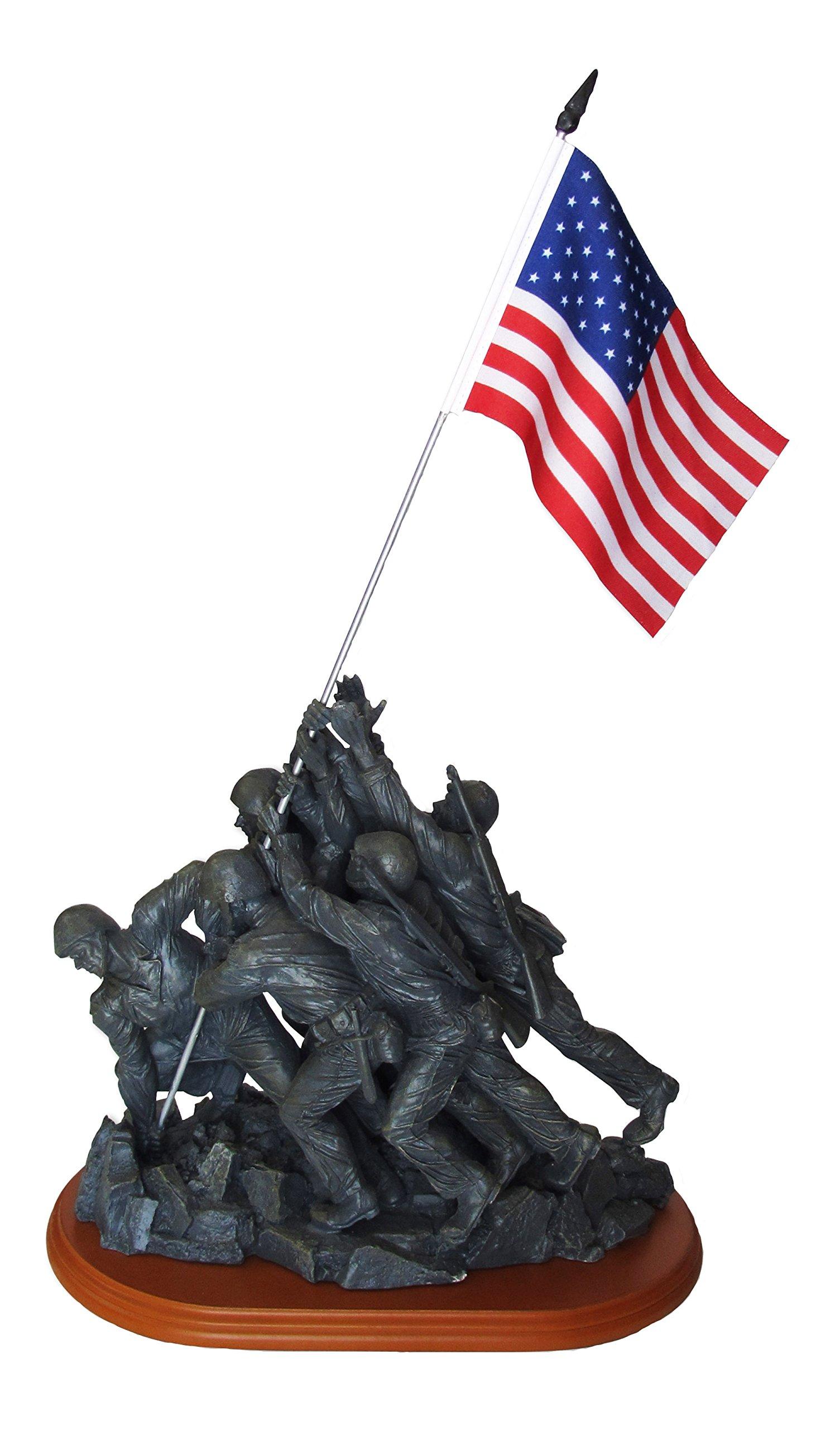 Blue Sky Ceramic Iwo Jima Memorial Bust Figure, 18'' x 11'' x 6.5''/Large by Blue Sky Ceramic