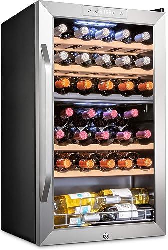 Ivation-33-Bottle-Dual-Zone-Wine-Cooler-Refrigerator-w/Lock