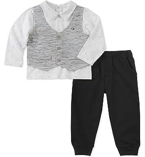 Amazon.com: Calvin Klein Baby Boys 3 Pieces Bodysuit Pant ...