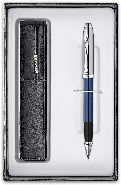 Cross Townsend Limited Edition - Bolígrafo (con estuche de piel, en caja de regalo), color azul: Amazon.es: Oficina y papelería