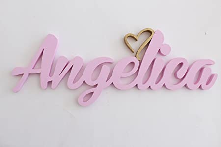 Girls or boys name door plaques with heart angelica girls or boys name door plaques with heart angelica personalised door signs nursery negle Choice Image