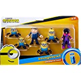 Minions: The Rise of Gru Fisher-Price Imaginext Figure Pack, set of 6 film character figures for preschool kids ages 3…