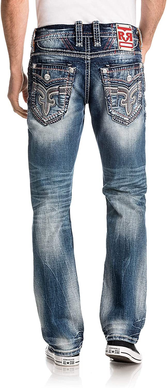 Rock Revival Mens Burro J202 Straight Jeans