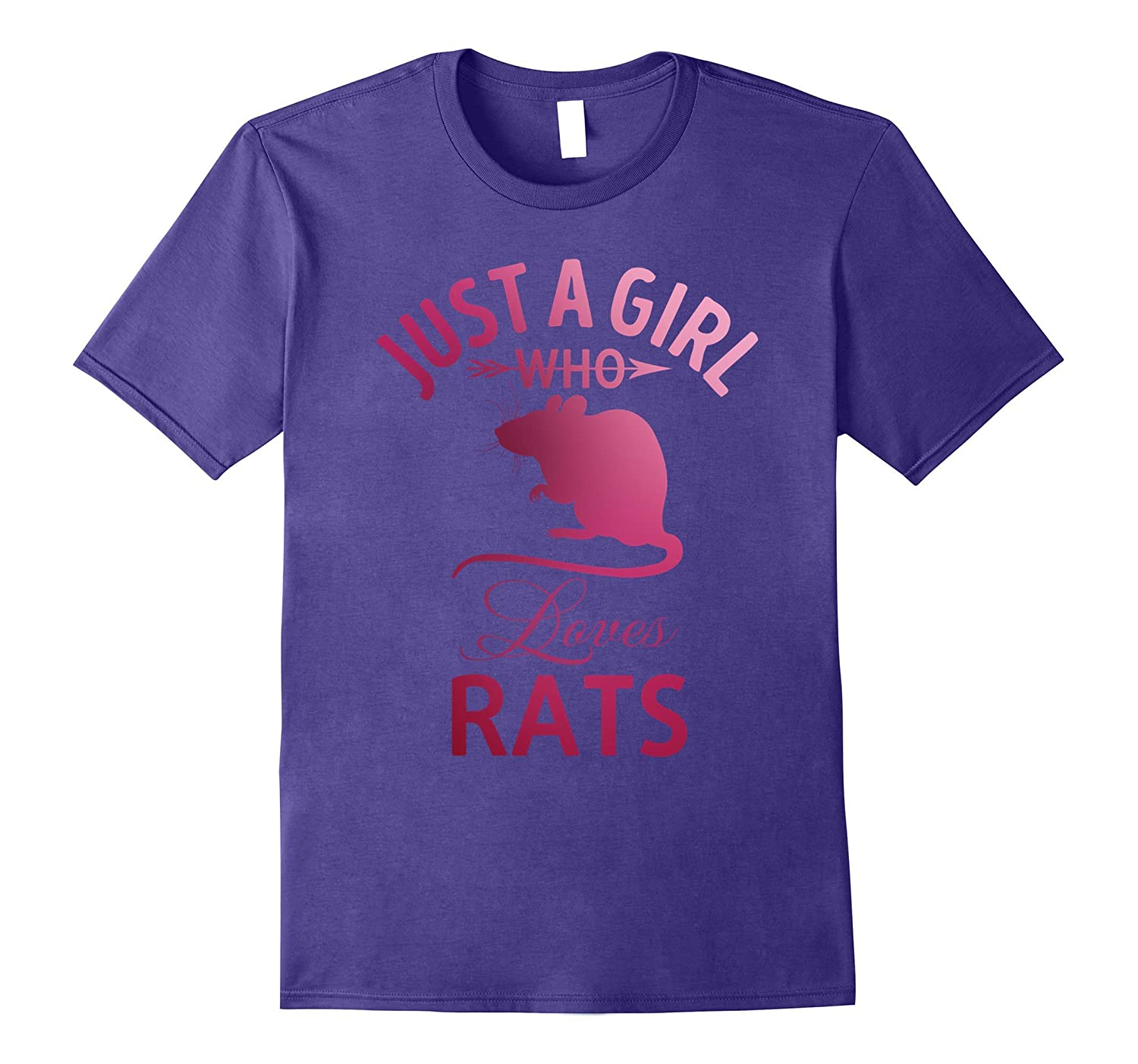 Funny Cute Just A Girl Who Loves Rat T-shirts-FL
