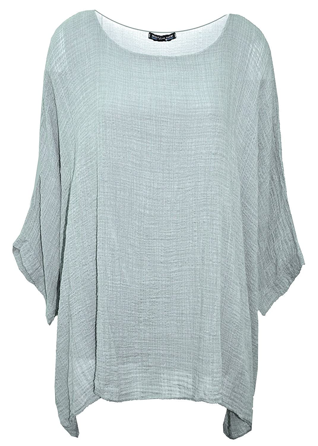 Elegant Vaps New Ladies Top Womens Plus Size Italian Plain Dress Loose Fit Batwing Lagenlook Kimono Top