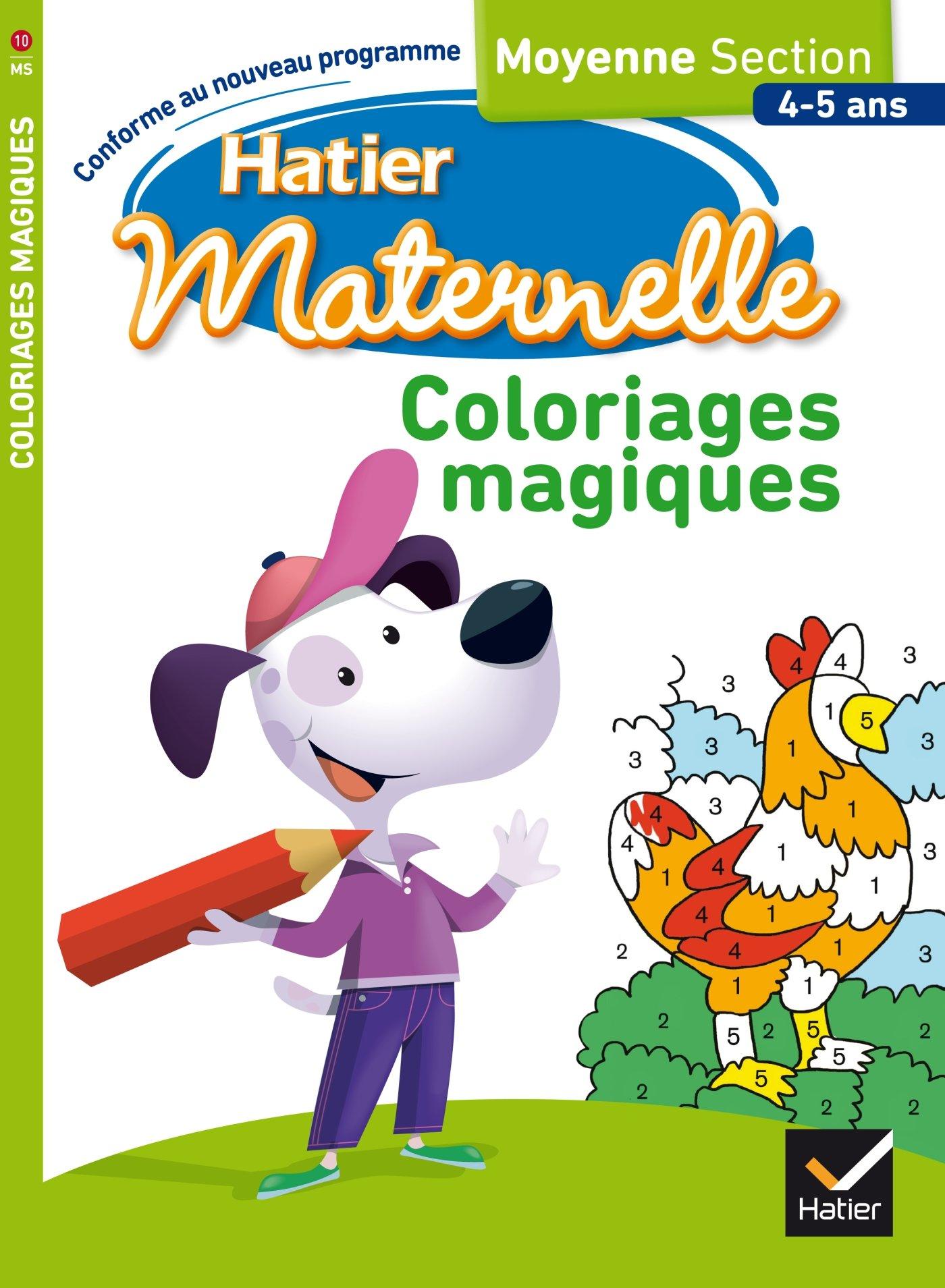 Coloriages Magiques Moyenne Section 9782218990229 Amazon Com Books