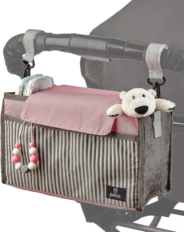 Baby Stroller Organizer | Hanging Diaper Caddy | Stroller Console | Stroller Bag Organizer | Parent Console for Stroller | Stroller Caddy | Pink Diaper Caddy Organizer | Hanging Diaper Organizer Pink