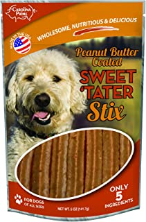 product image for Carolina Prime Pet 45321 Peanut Butter Coated Sweet Tater Stix Treat For Dogs ( 1 Pouch), One Size