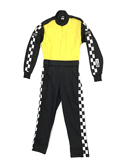 Racing Fire Suits >> Amazon Com Racing Fire Suit 1 Piece Double Layer Sfi 5 Small Yellow