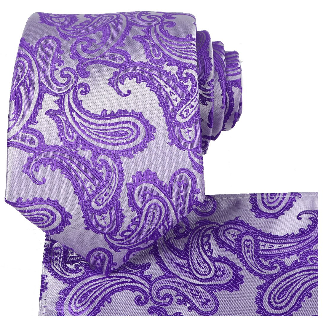 KissTies Mens Extra Long Tie Paisley Pattern Necktie + Gift Box (63'' XL) KT2001XL