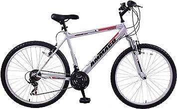 Bicicleta de montaña Ammaco Aspen para hombre en talla 53 cm (M) con suspensión delantera, ruedas de 26 pulgadas, color plata/verde y 21 velocidades: Amazon.es: Deportes y aire libre