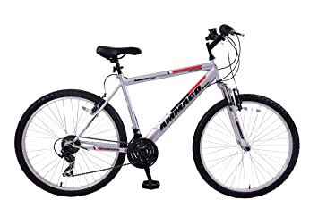 Ammaco Aspen 21 Frame Mens Front Suspension 26 Wheel Bike Silver