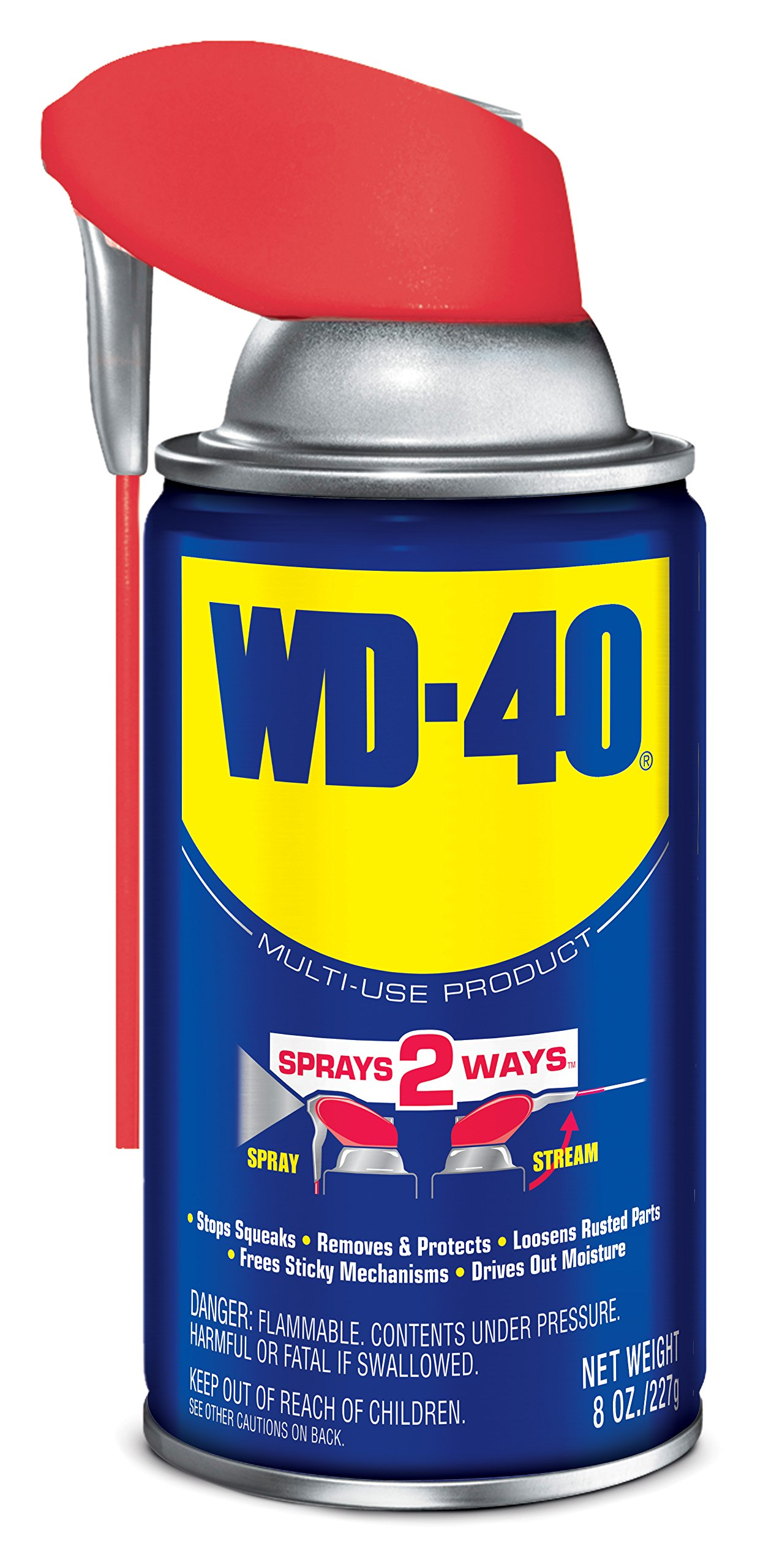 WD-40 Multi-Use Product - Multi-Purpose Lubricant with Smart Straw Spray. 8 oz. (12 Pack) by WD-40