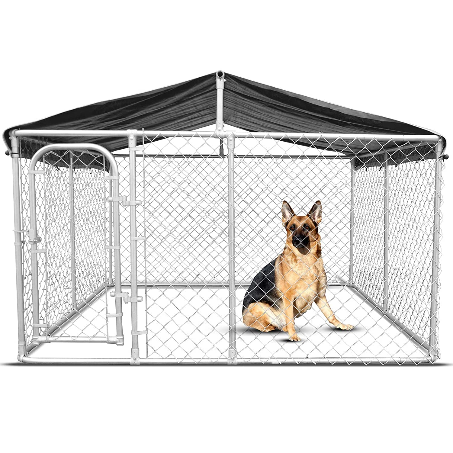 M New Pet Dog Kennel Enclosure Playpen Puppy Run Exercise Fence Cage Play Pen