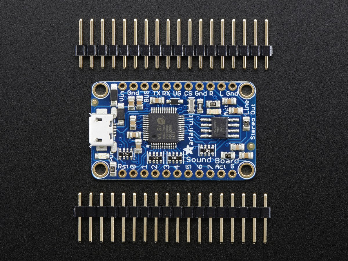 Adafruit Audio FX Mini Sound Board - WAV/OGG Trigger - 2MB..