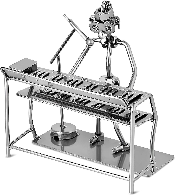 Broadway Gift Silvertone Keyboard Singer 6 inch Table Top Figurine