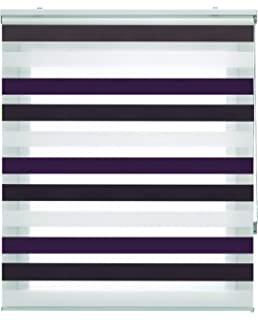 Blindecor Lira Estor Enrollable Doble Tejido, Noche y día,Tricolor 120 x 180 cm, Color Marron…