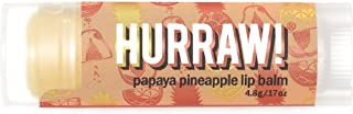 product image for Hurraw! Papaya Pineapple Lip Balm, 4.8g/.17oz: Organic, Certified Vegan, Cruelty and Gluten Free. Non-GMO, 100% Natural Ingredients. Bee, Shea, Soy and Palm Free. Made in USA