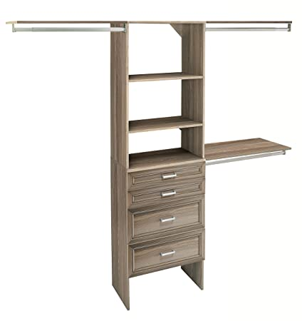 ClosetMaid 1933140 SuiteSymphony 25 Inch Closet Organizer With Shelves And  4 Drawers, Natural