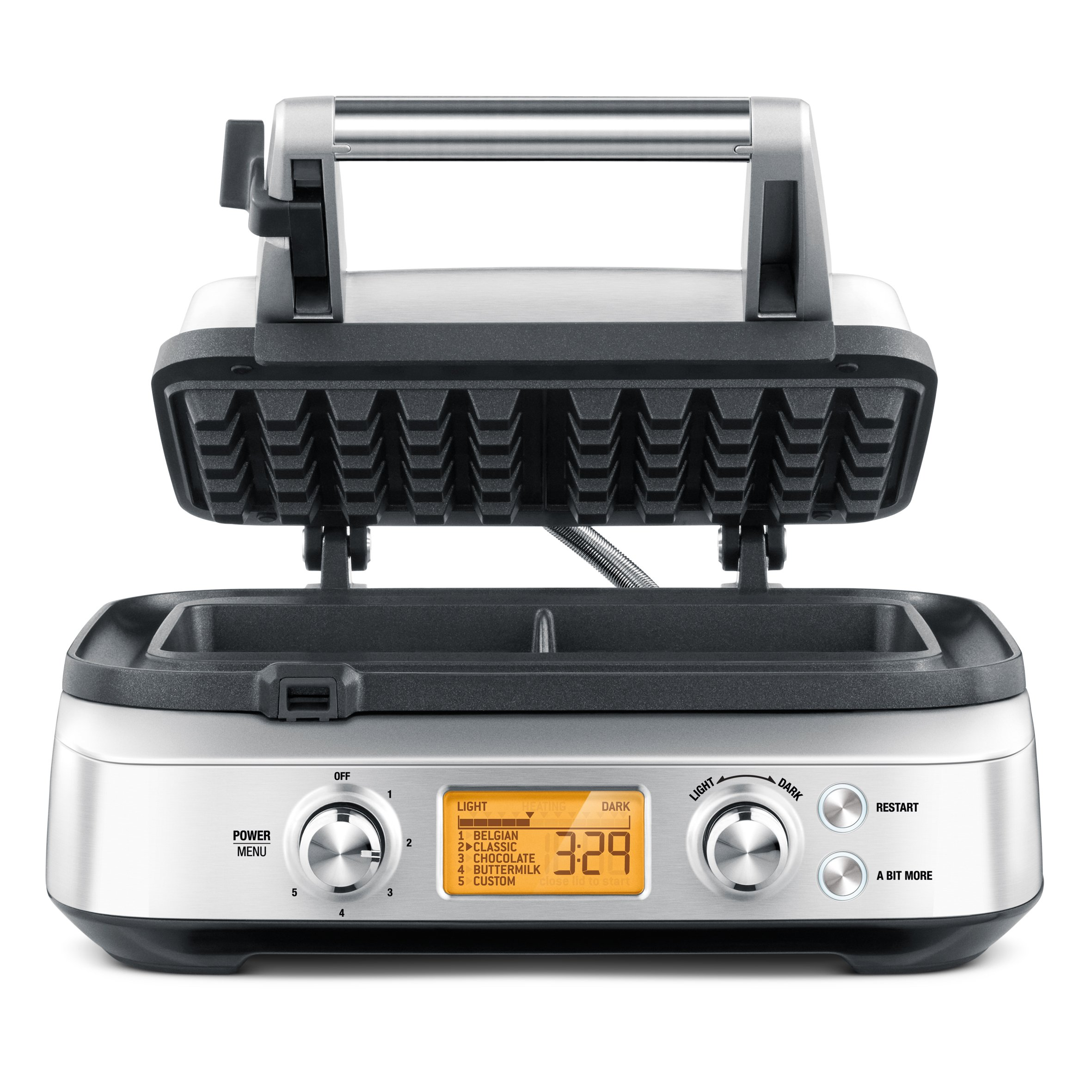Breville BWM620XL The Smart 2 Slice Waffle Maker, Silver