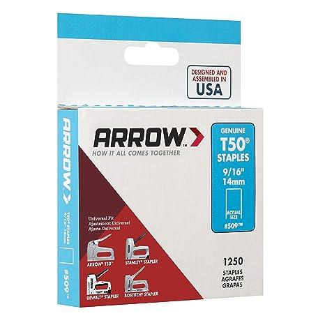 caja con 1250 unidades, 13 mm Arrow T50 Grapas