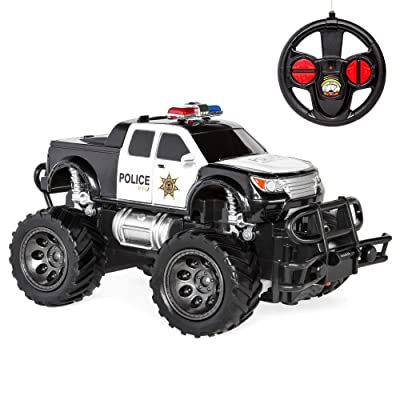 Best Choice Products Kids 1/24 Scale RC SWAT Remote Control Police Car Monster Truck Toy w/ Lights, Climbing Style Tires: Toys & Games
