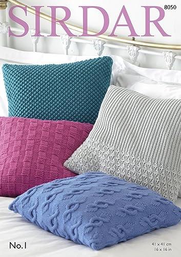 Sirdarhayfield Super Chunky 100g Knitting Pattern 7805 Cushion