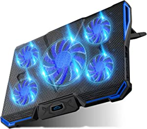 Carantee Laptop Cooling Pad Quiet Notebook Cooler Pad USB Powered Laptop Cooler with 7 Level Adjustable Mount Stands